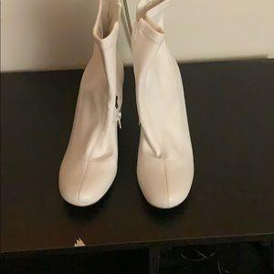 Nice white heels boots